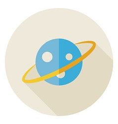 Flat Science Astronomy Space Planet Circle Icon vector image