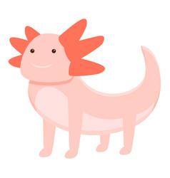 Funny axolotl icon cartoon style vector