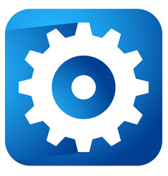 gearwheel rack wheel gear icon sign service vector image