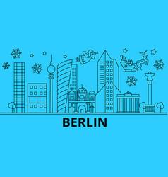 germany berlin winter holidays skyline merry vector image
