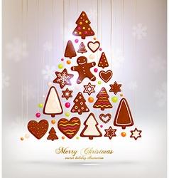 Gingerbread Christmas Design vector
