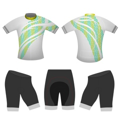 Green abstract cycling vest vector