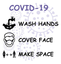 hands face space message vector image