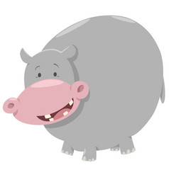 Hippo cartoon animal character vector