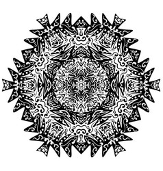 Indian ornament kaleidoscopic floral mandala vector