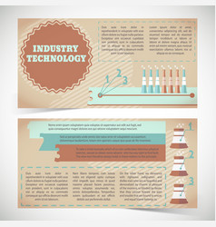 Industry technology banners vector
