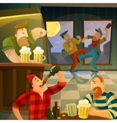 Irish Pub Background vector