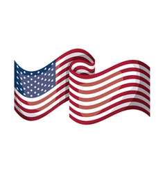 isolated usa flag design vector image