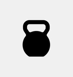 Kettlebell icon logo design simple flat vector