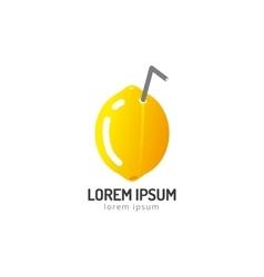 Lime or lemon fruit slice Lemonade juice logo vector