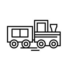 little train line icon concept sign outline vector image