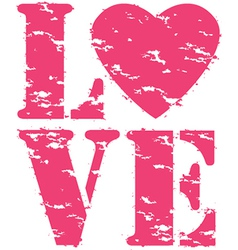 Love grunge rubber stamp vector image