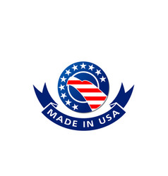 made in usa american flag and eagle icon vector image