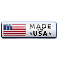 Made in USA flag button banner vector
