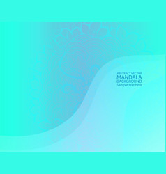 Mandala simple thin line stylish background vector