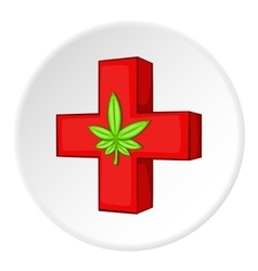 Medical marijuana icon cartoon style vector