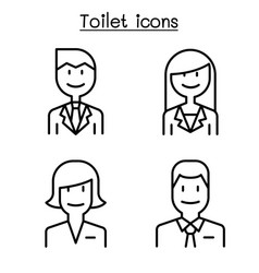 modern toilet restroom bathroom symbol set in vector image