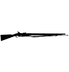 musket style rifle silhouette vector image