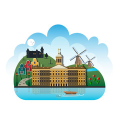 netherlands country design template vector image