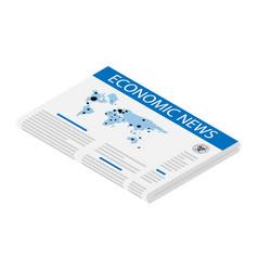 newspaper economic news concept vector image