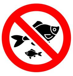 No fishing forbidden sign modern round sticker vector