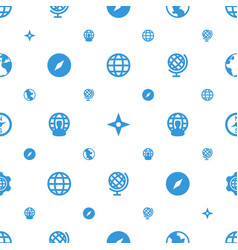 north icons pattern seamless white background vector image