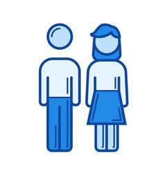 parents line icon vector image