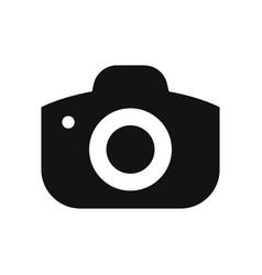 photo camera icon isolated on white background vector image