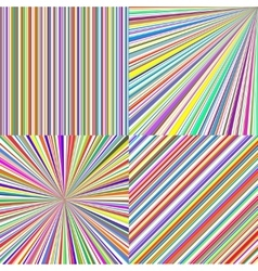 Rainbow color stripes line art abstract vector
