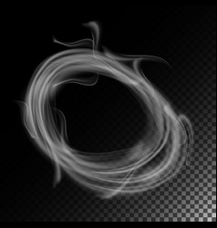 Realistic cigarette smoke waves set of vector