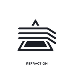 Refraction isolated icon simple element from vector