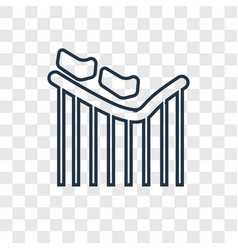 roller coaster concept linear icon isolated on vector image