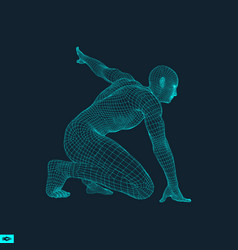 runner ready for sports exercise sport symbol vector image