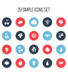 Set of 20 editable dessert icons includes symbols vector