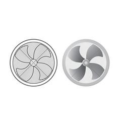 set of fans vector image