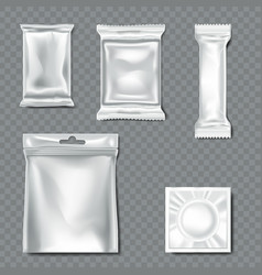 Set of flow pack on transparent background vector