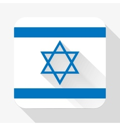 Simple flat icon Israel flag vector