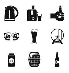Suds icons set simple style vector