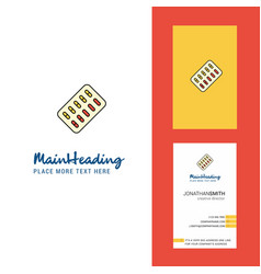 tablets creative logo and business card vertical vector image