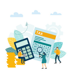 tax financial analysis tax online accounting vector image