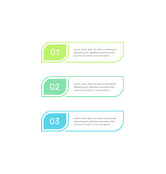 three steps workflow graphic elements design vector image