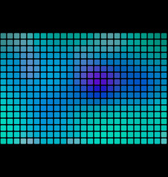 Turquoise blue purple abstract rounded mosaic vector