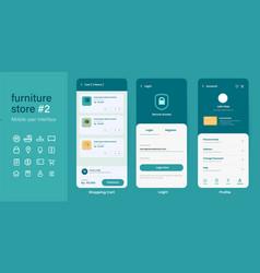 ui user interface mobile app design layout vector image