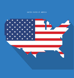 united states of america map usa independence vector image