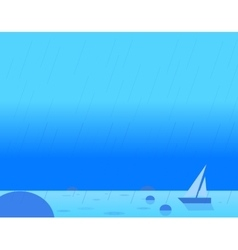 Wallpaper Landscape of Seascape and Sail vector image