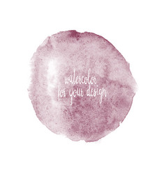 watercolor soft purple circle hand vector image