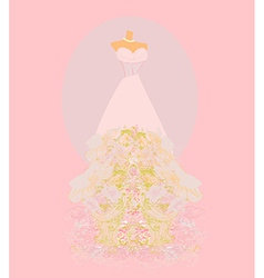 Wedding dress for Wedding invitations vector