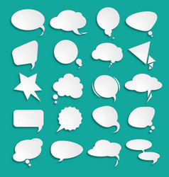 white clouds dialog vector image