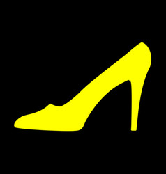 women shoe yellow sign 911 vector image