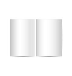 blank realistic opened book magazine mockup vector image